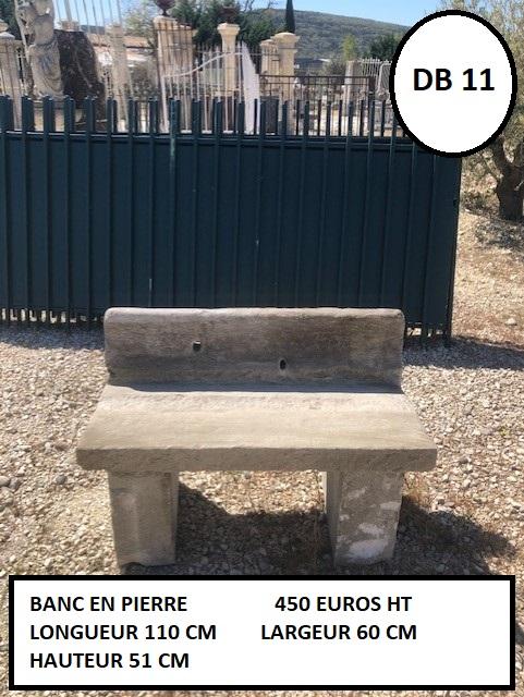 Banc en pierre