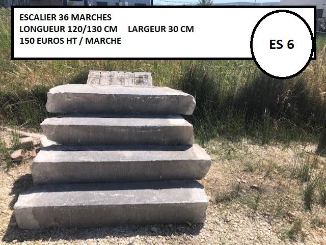 Escalier en pierre 36 marches