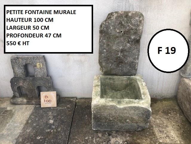Fontaine murale en pierre